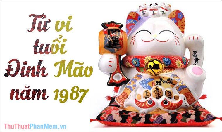Tử vi tuổi Đinh Mão 1987