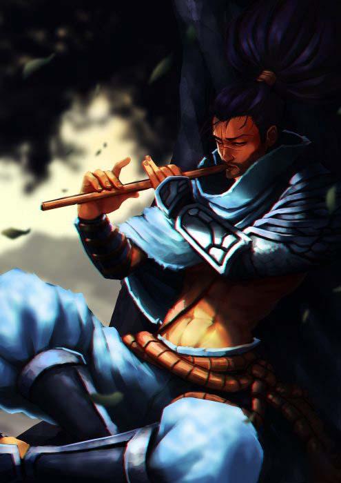 Hình ảnh yasuo thổi sáo