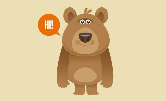 Icon gấu béo cute