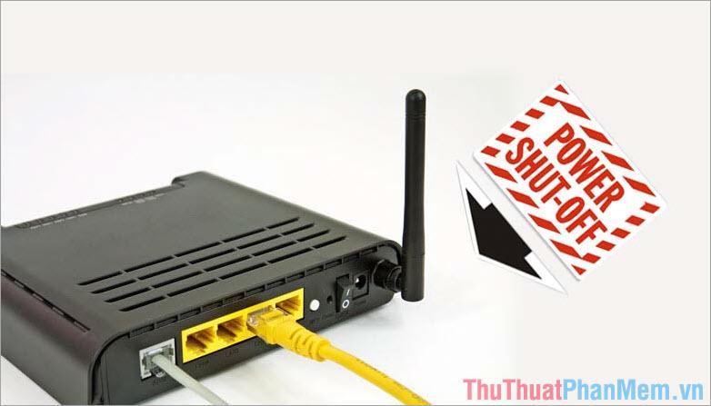 Khởi động lại Modem, Router Internet