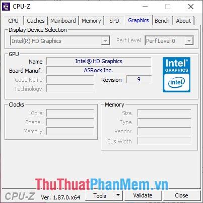 Máy sử dụng card On-Board của Intel