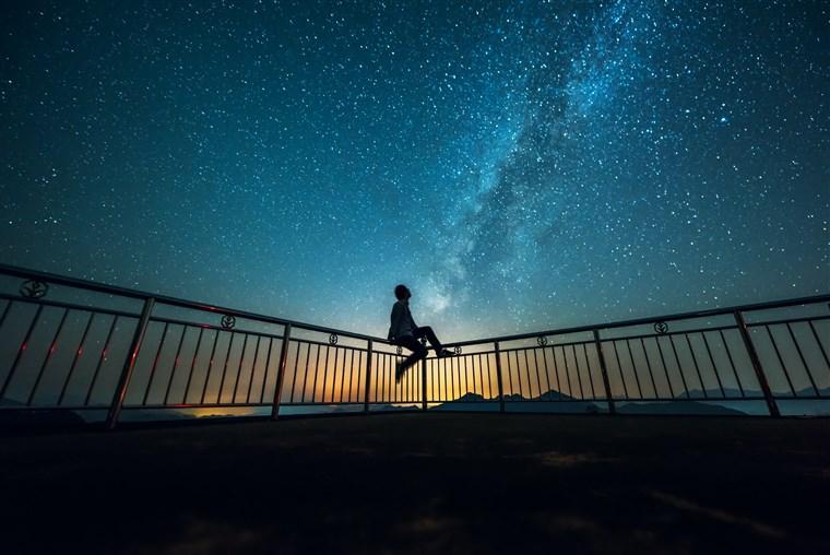 Hình ảnh buồn một mình bầu trời sao