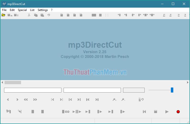 Phần mềm cắt nhạc MP3DirectCut
