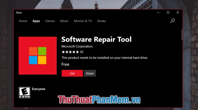 Tải Software Repair Tool về máy