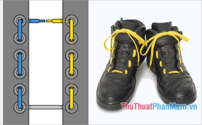 Cách thắt dây giày kiểu con đường