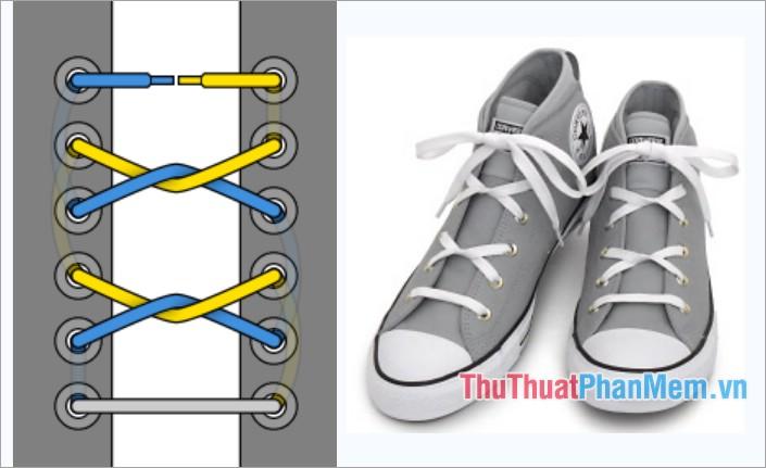 Cách thắt dây giày kiểu đồi thung lũng