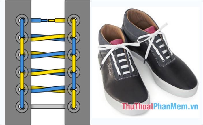 Cách thắt dây giày kiểu đường ray xe lửa