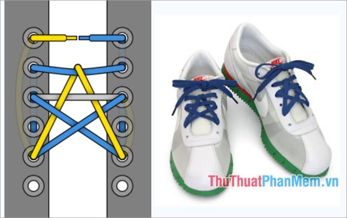 Cách thắt dây giày kiểu hình ngôi sao