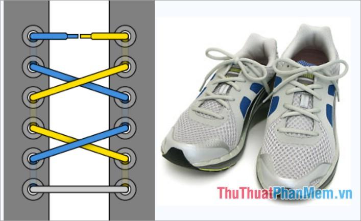Cách thắt dây giày kiểu thắt nơ
