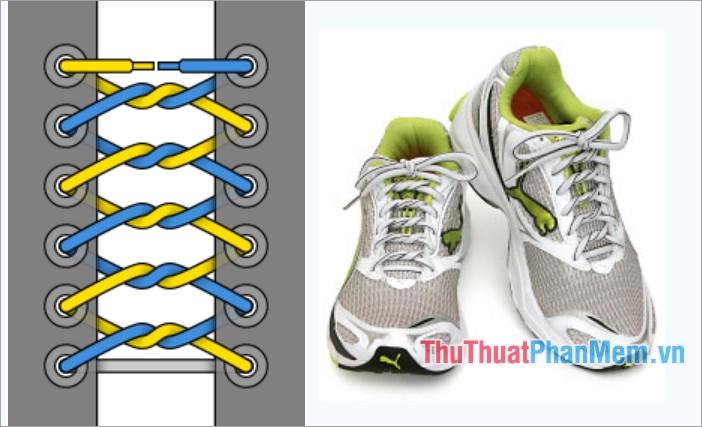 Cách thắt dây giày kiểu thắt nút