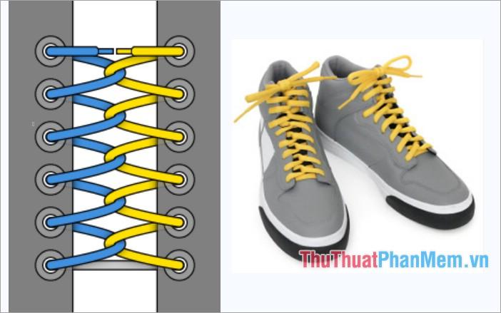 Cách thắt dây giày kiểu vòng lặp