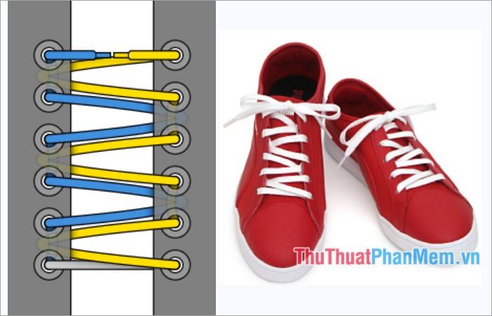Cách thắt dây giày kiểu Zig Zag