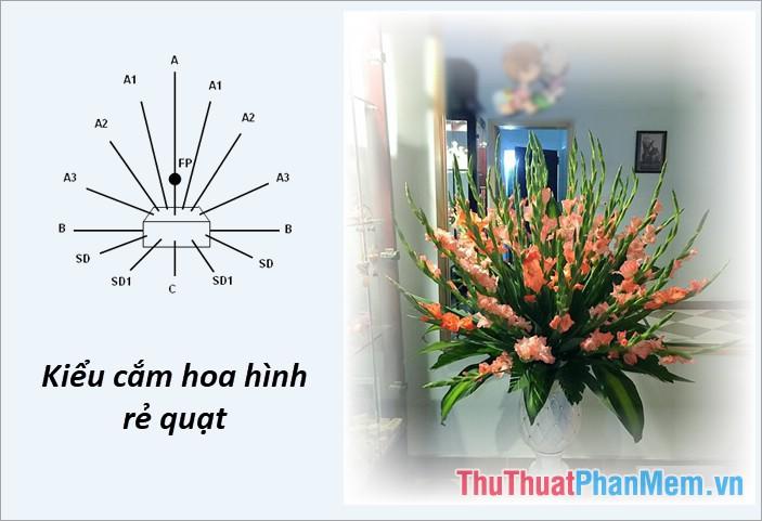 Cắm hoa kiểu rẻ quạt