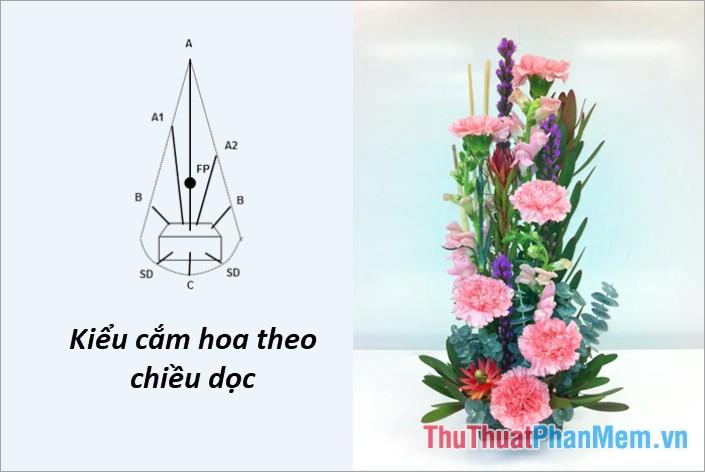 Cắm hoa theo chiều dọc