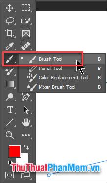 Chọn công cụ Brush Tool