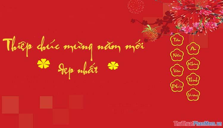 Thiệp chúc mừng năm mới đẹp nhất