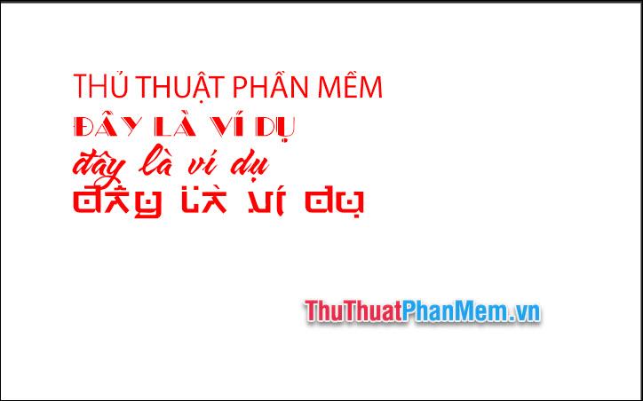 Thực hành nhập Tiếng Việt trong Photoshop