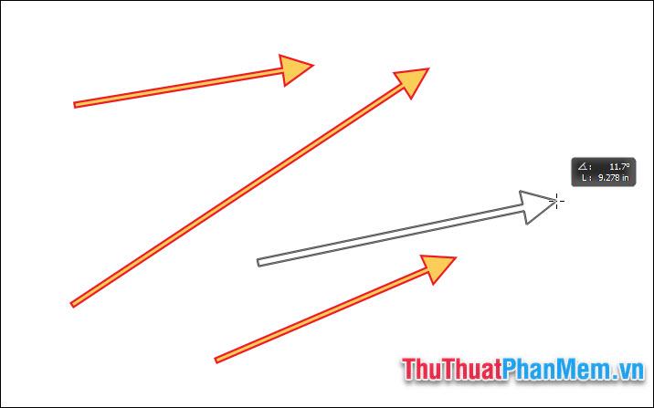 Thực hiện giữ chuột tại điểm đầu rồi kéo tới điểm cuối và thả ra