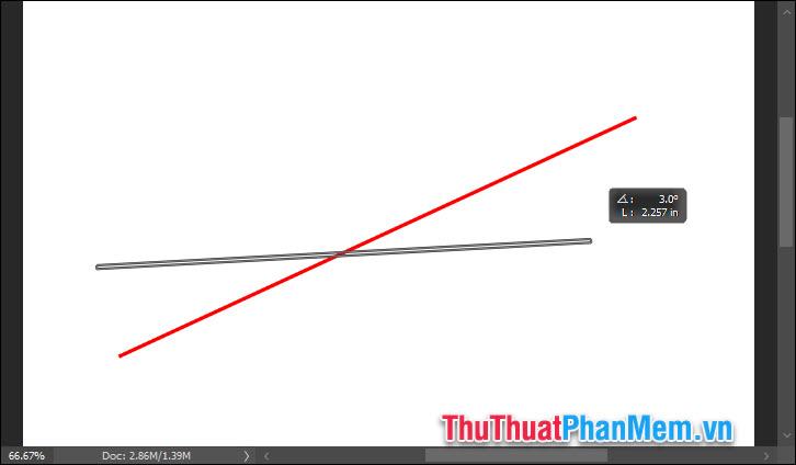 Vẽ đường thẳng bằng cách giữ chuột kéo 1 đường thẳng