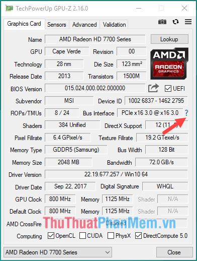 Sử dụng GPU-Z để kiểm tra thông số VGA - 1