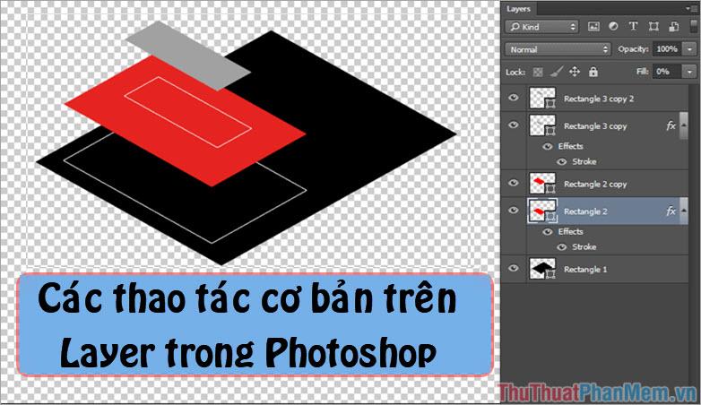 Các thao tác cơ bản trên Layer trong Photoshop