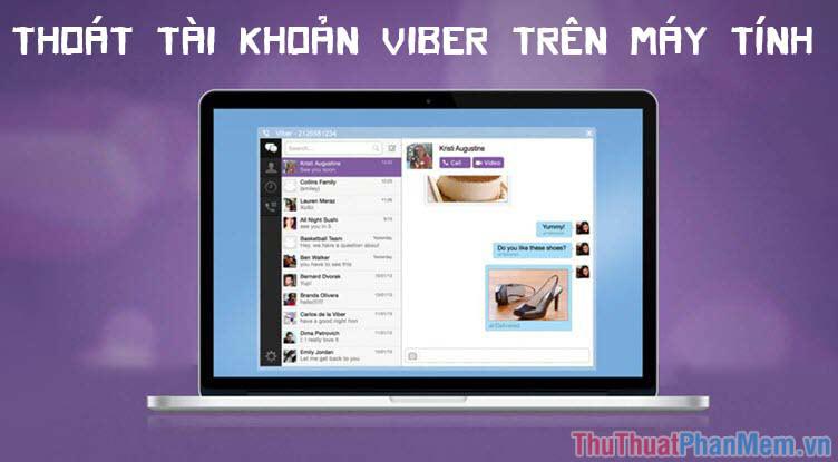 Cách thoát, đăng xuất tài khoản Viber trên máy tính, laptop