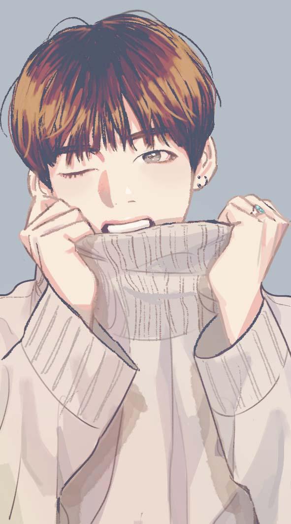 Ảnh bts anime dễ thương