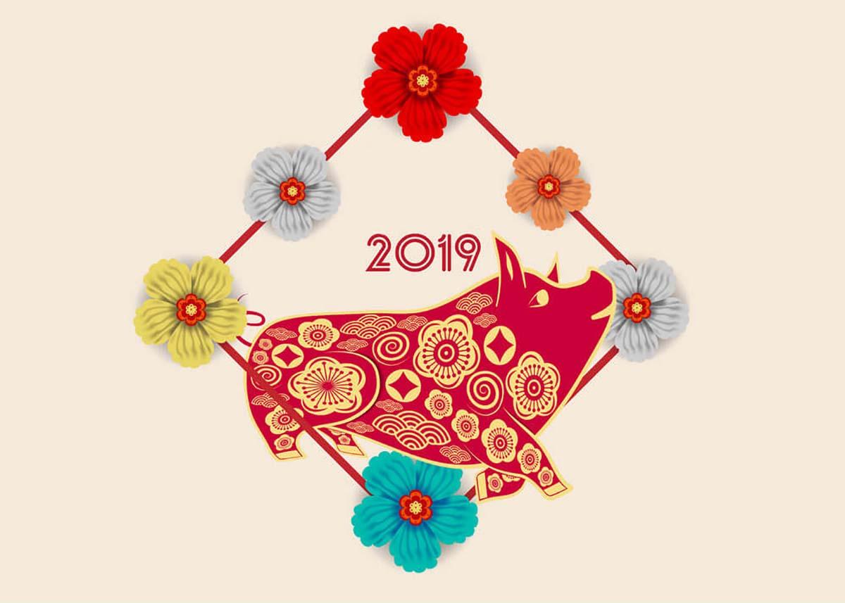 Ảnh nền chúc mừng năm mới 2019 cực đẹp