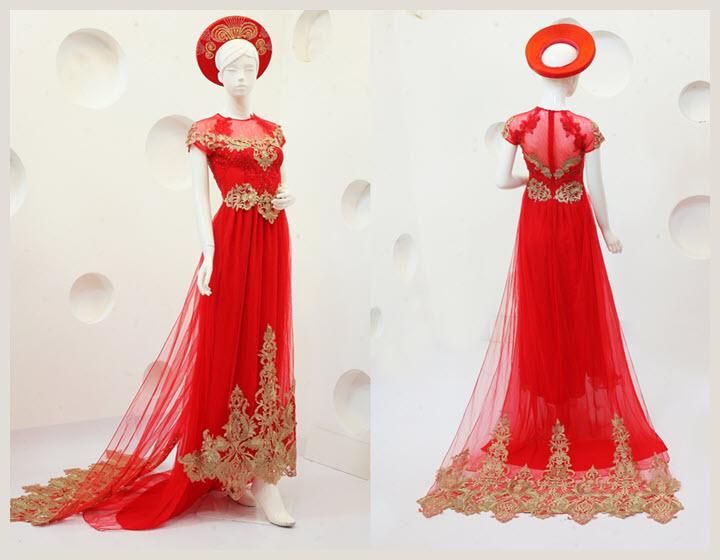 Áo dài cưới đỏ đẹp