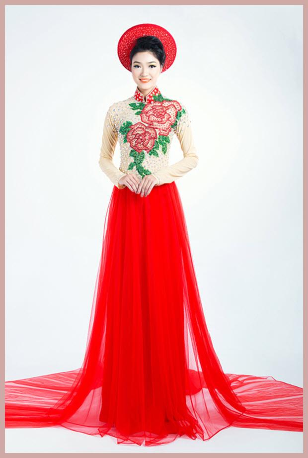Các mẫu áo dài cưới đẹp nhất hiện nay