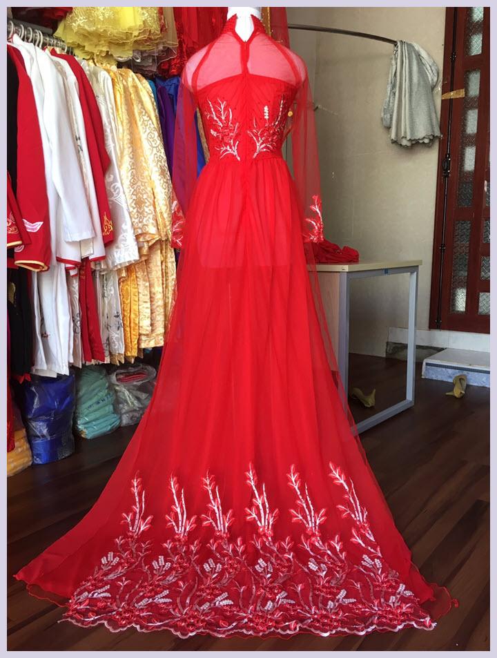 Các mẫu áo dài cưới đẹp