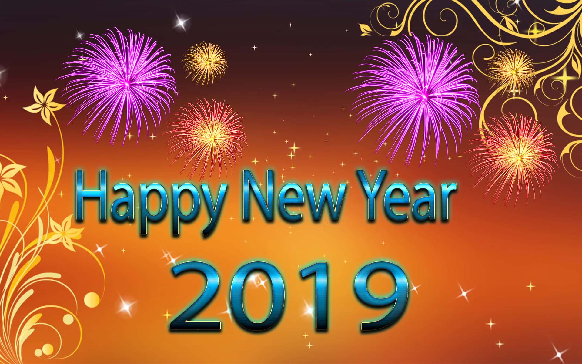 HD happy new year 2019 wallpaper