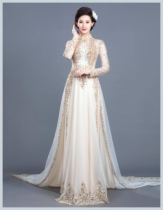Hình ảnh áo dài cưới đẹp