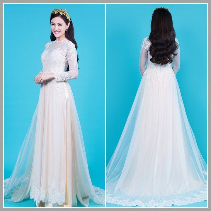 Hình ảnh áo dài cưới