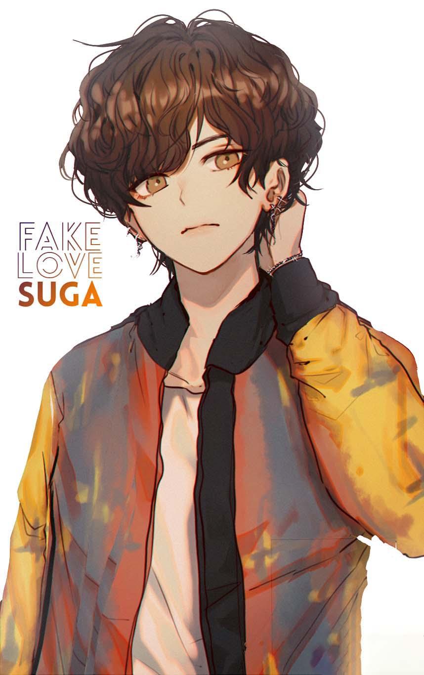 Hình ảnh bts anime suga đẹp
