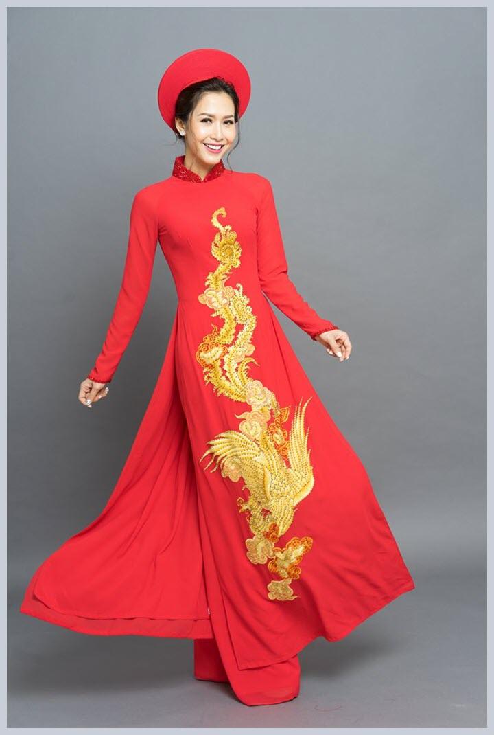 Hình ảnh mẫu áo dài cưới đẹp