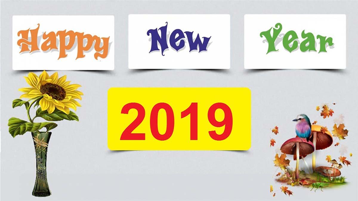 Hình ảnh nền chúc mừng năm mới 2019