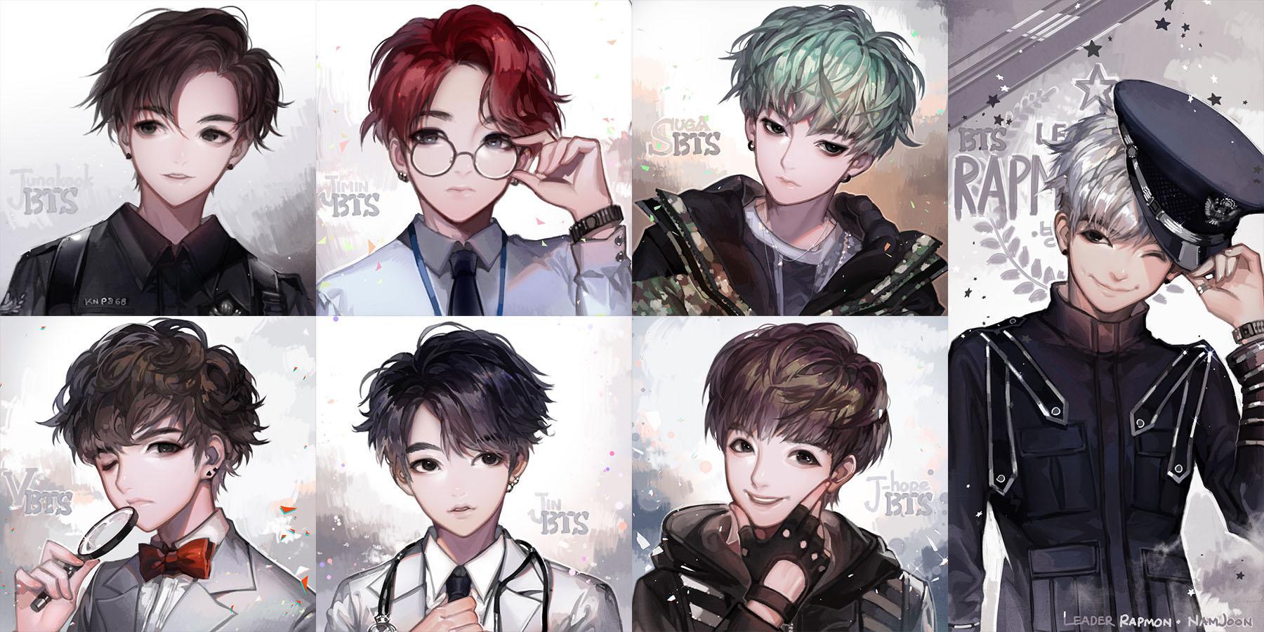Hình ảnh thành viên bts anime