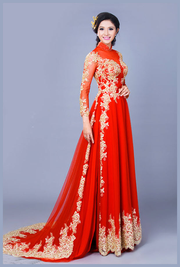 Hình áo dài cưới