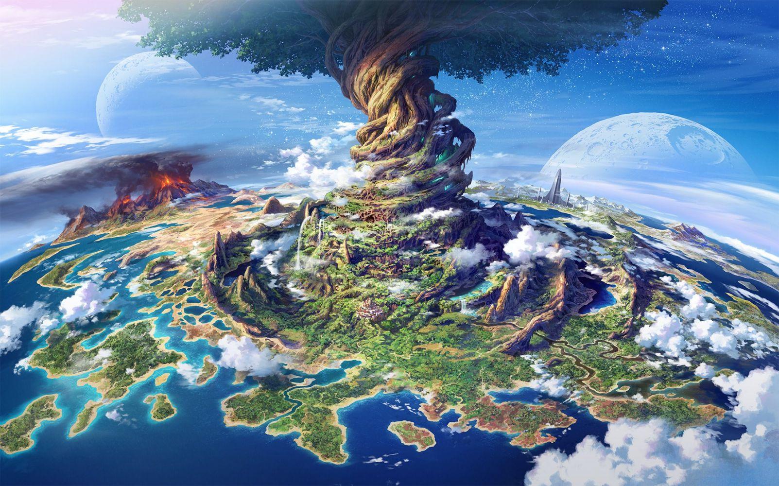 Hình nền anime 3d phong cảnh