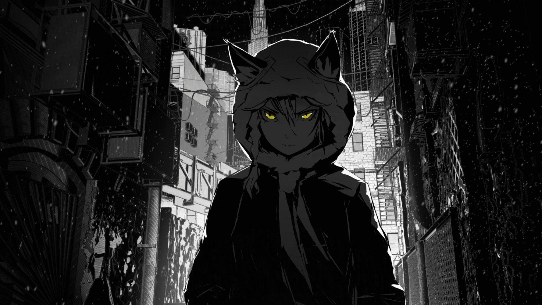 Hình nền anime đen trắng