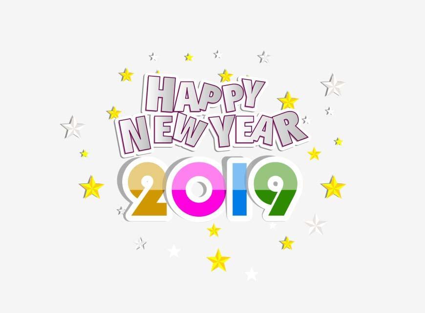 Hình nền chúc mừng năm mới 2019 đẹp và đơn giản