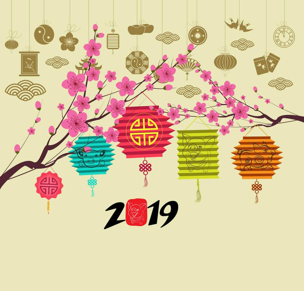 Hình nền đẹp chúc mừng năm mới 2019
