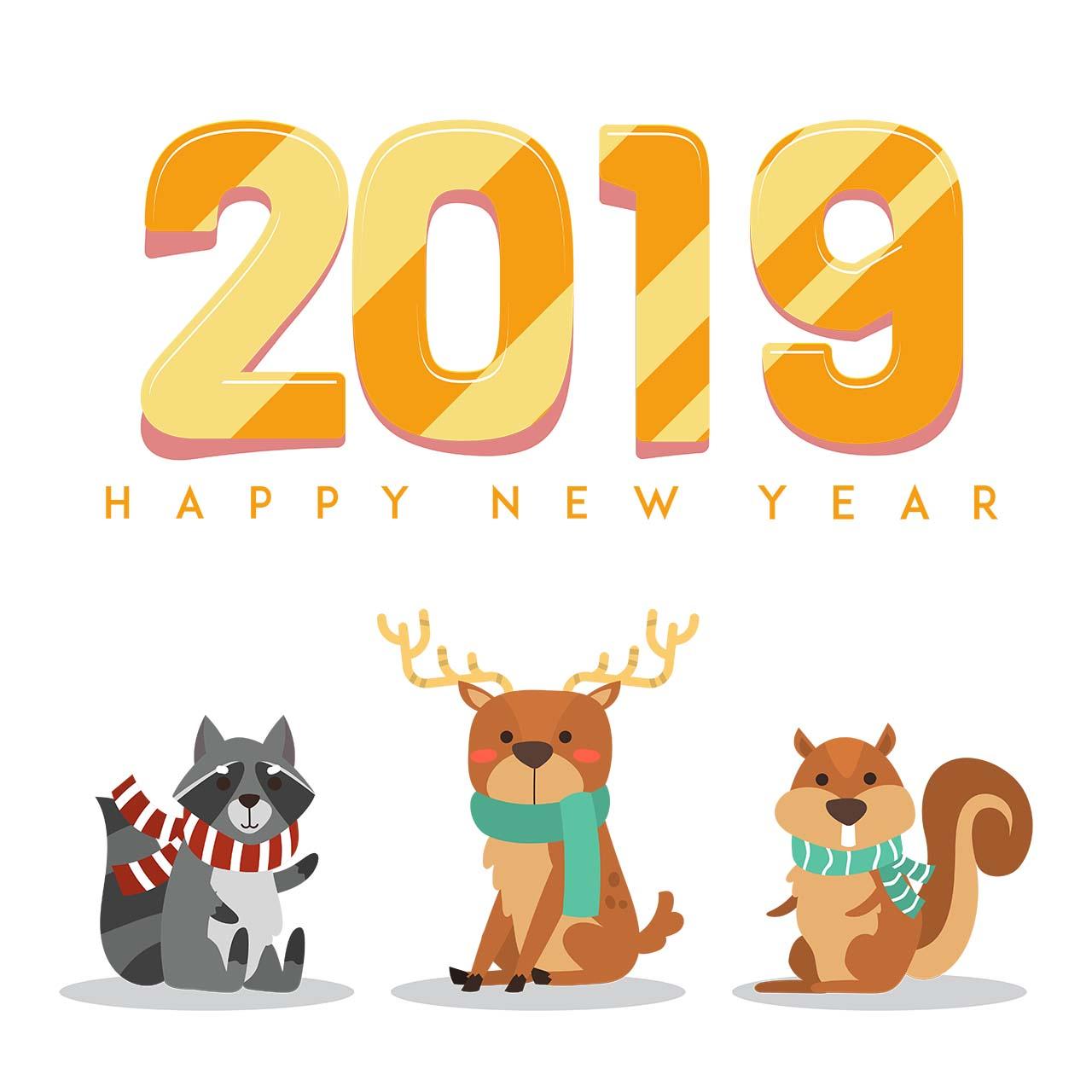 Hình nền đón chào năm mới 2019