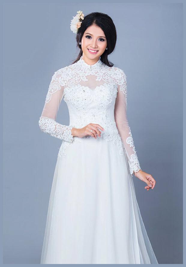 Mẫu áo dài cưới đẹp cho cô dâu