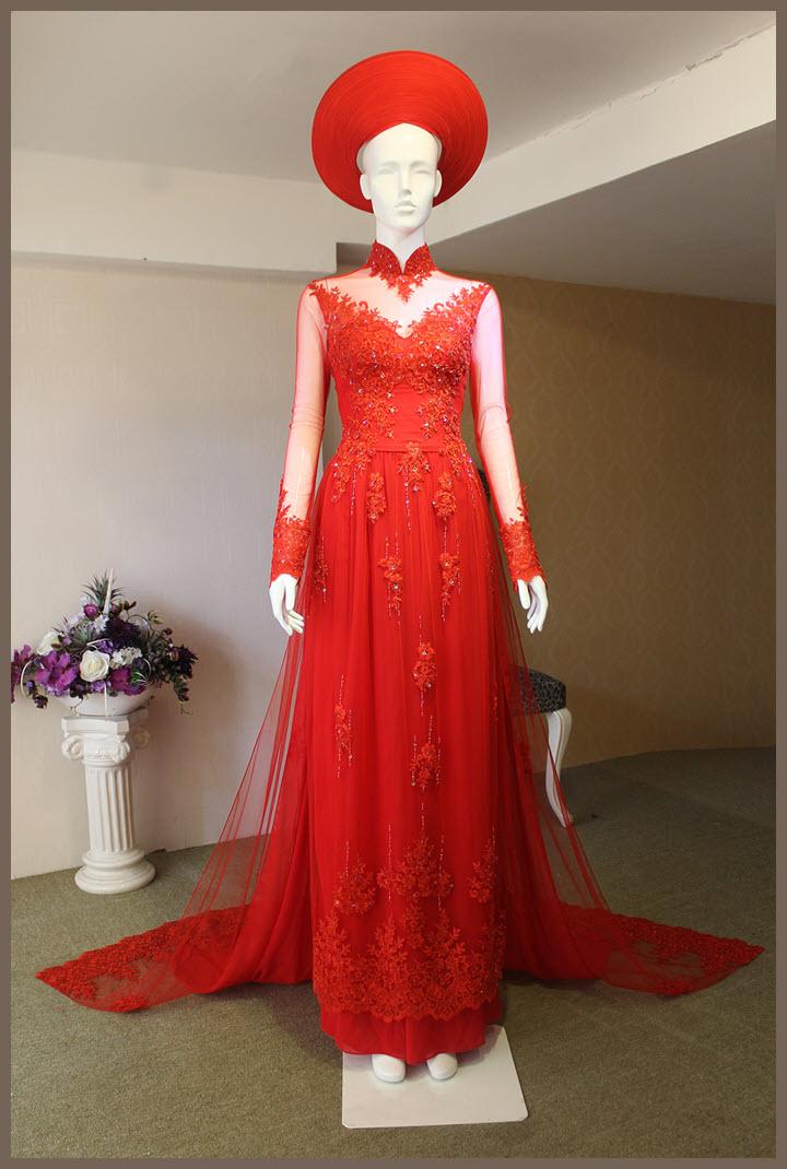 Mẫu áo dài cưới đẹp nhất