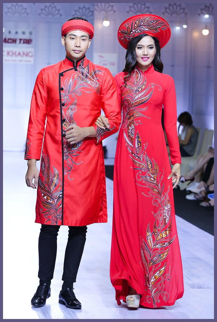 Mẫu áo dài cưới đẹp