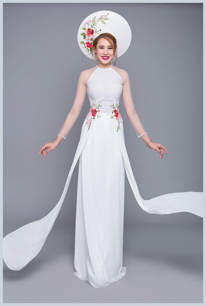 Mẫu áo dài cưới trắng đẹp