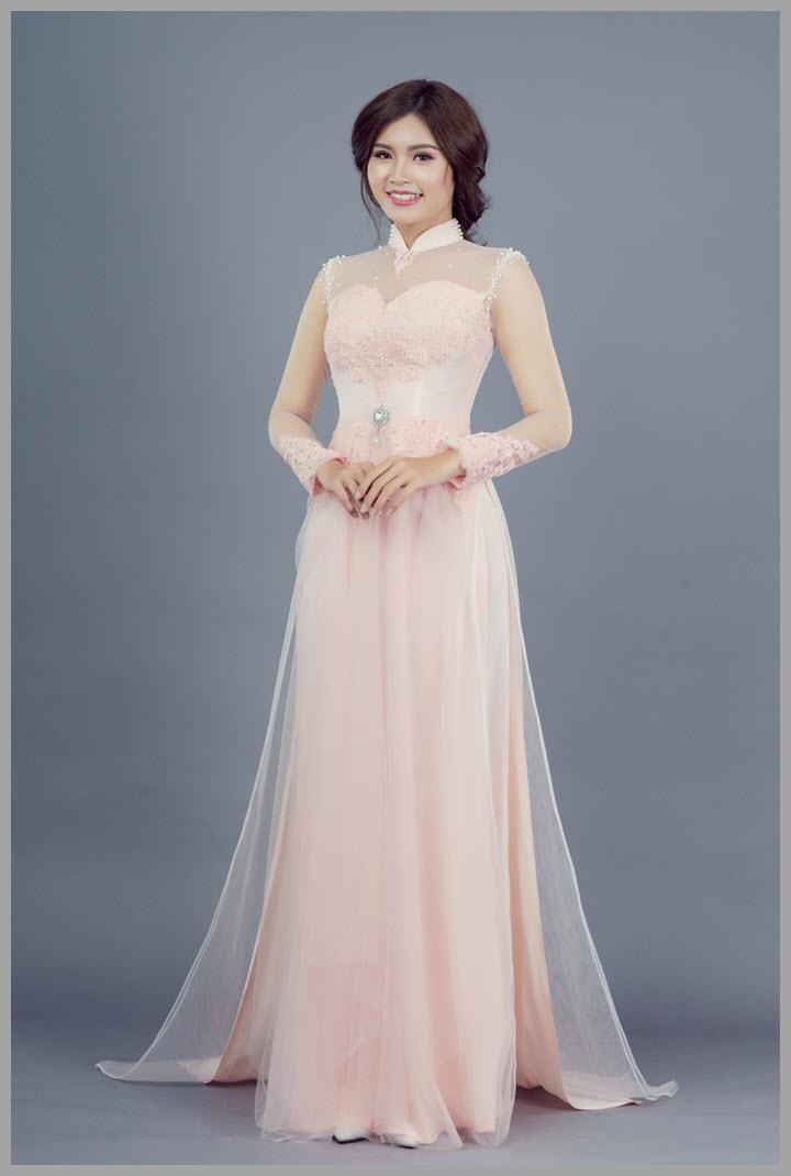 Mẫu áo dài cưới tuyệt đẹp