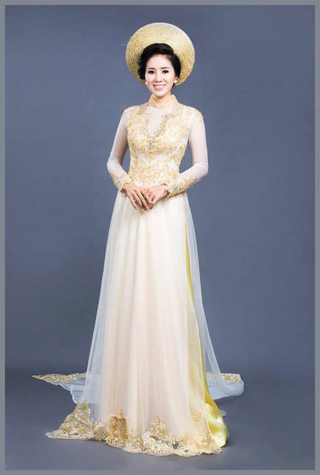 Mẫu áo dài ngày cưới đẹp nhất